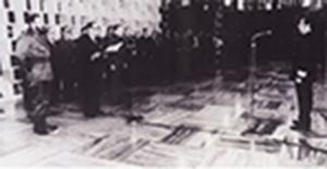 Thales Godoy em cerimônia de outorga de condecoração pelo presidente cubano Oswaldo Dorticós, com a presença do comandante Fidel Castro